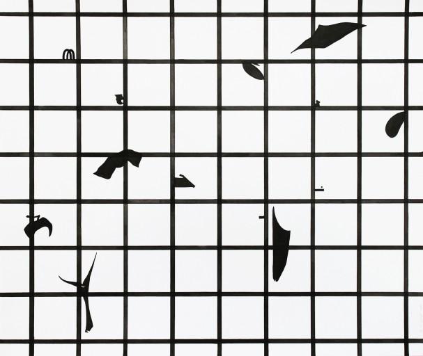 Composition02, 종이에 잉크, 42x49,8cm, 2014
