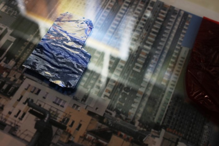 Ebauche, film acétate, papier imprimé, 21x29,7cm, 2013