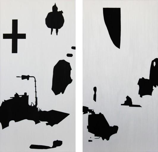 STUDIO15_J1 캔버스에 유채 80 x 40 cm 2012 STUDIO15_J2 캔버스에 유채 80 x 40 cm 2012
