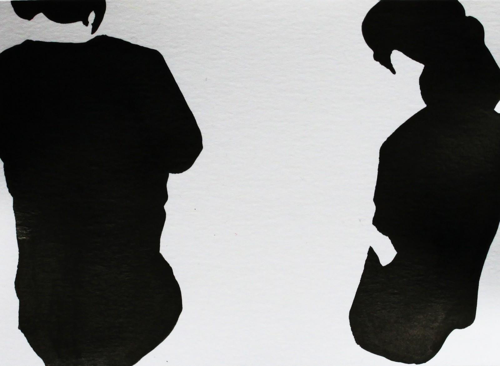 Fragments noirs, 종이에 잉크, 10x13,5cm, 2014