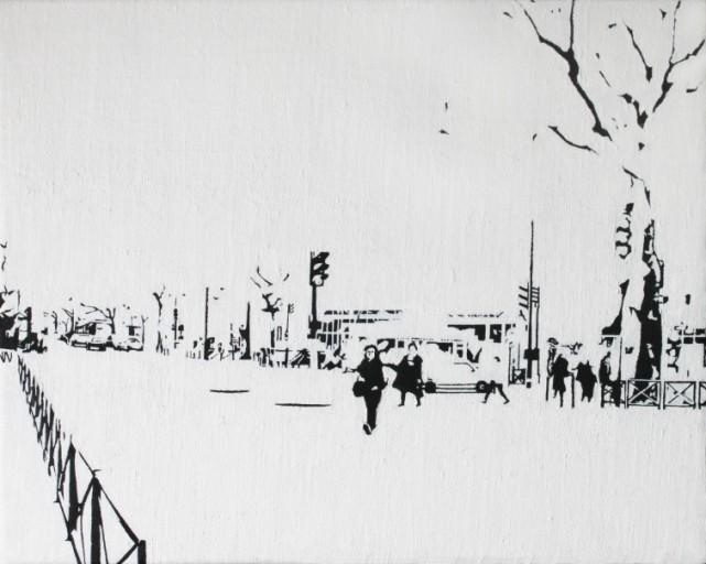 PARIS15_Place Charles Michels #02, 캔버스에 유채, 22x27(cm), 2014