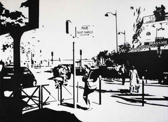 PARIS15_Place Charles Michels #03, 캔버스에 유채, 24x33(cm), 2014