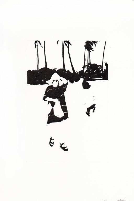 A la plage philippine, 2015, 종이에 잉크, 30 x 20 cm