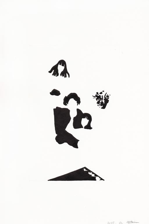 Joyeux noël #02, 2015, 종이에 잉크, 30 x 20 cm