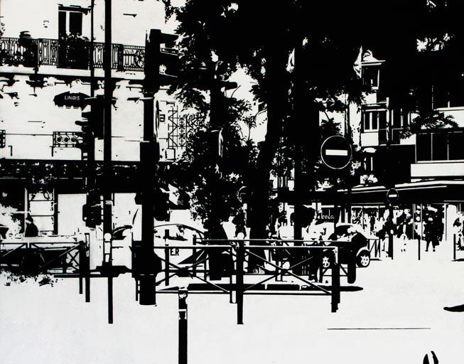 PARIS15_Place Charles Michels #05, 2015, 아크릴, 73 x 92 cm