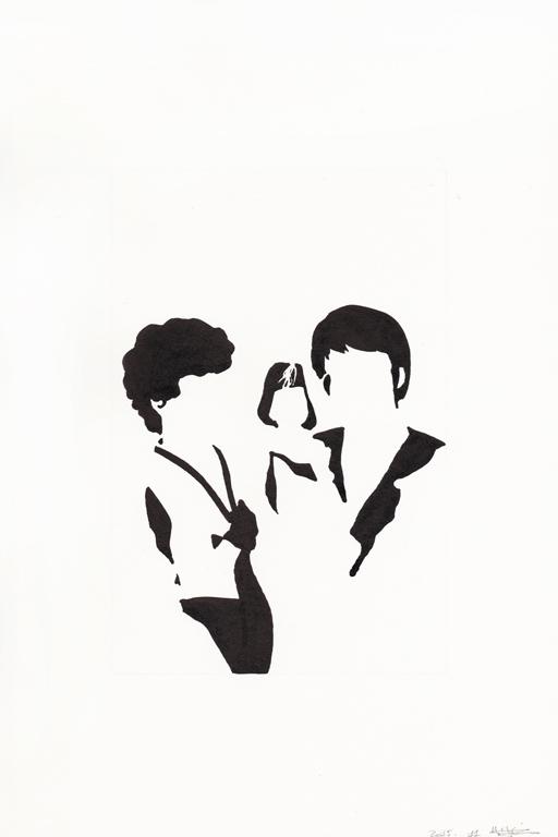 Premier anniversaire, 2015, 종이에 잉크, 30 x 20 cm